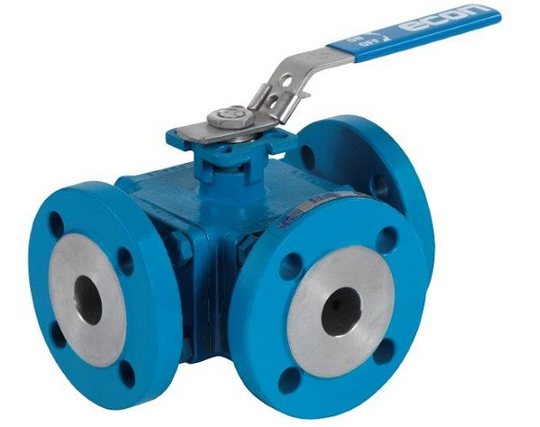 Banjo Electric 3 Way Directional Ball Valve: 3-Way, Flanged 300#, Full Port